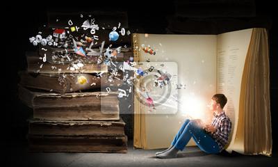 Fototapeta Čtení a představivost