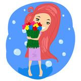 New york fashion ilustrace s módní dívka 57b6a547da