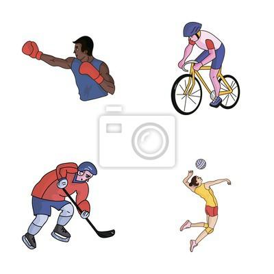 Cyklistika Box Ledni Hokej Volejbal Olympijsky Sport Sada