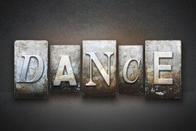 Fototapeta Dance Knihtisk