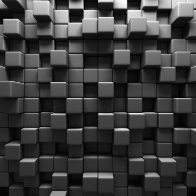 Fototapeta Dark Grey Cube bloky zeď pozadí