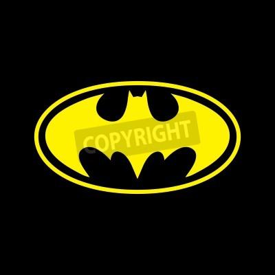 Fototapeta DC Comics superhrdina Batman logo žlutá na černém pozadí