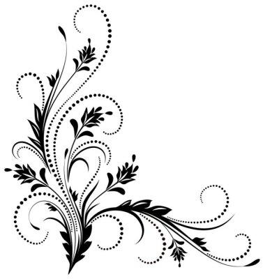 Fototapeta Dekorativní rohový ornament
