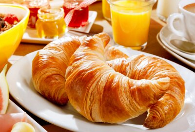 Fototapeta Delicious kontinentální snídaně