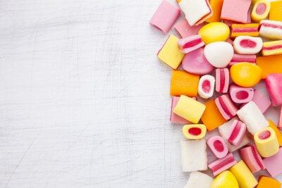 Fototapeta Delicious sladké cukroví s kopií vesmíru