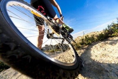 Fototapeta Deportes. Bicicleta de montaña y hombre.Deporte en exterior