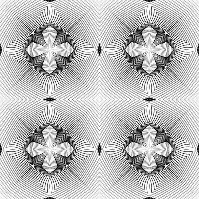 Fototapeta Design bezešvé geometrický vzor monochromatické