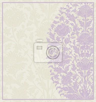 Fototapeta Design svatební oznámení, paisley květinovým vzorem, Indie