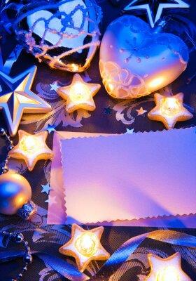 Design umění romantické vánoční přání s papírem poznámku a