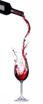 Fototapeta Design vínového seznamu - Pohyb a stříkání v vinotéce