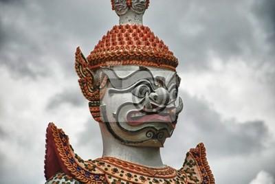 Fototapeta Detail chrámu Thajsku v Bangkoku