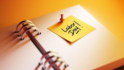 Detailní Yellow Sticky Note vložit ji do notebooku nastavení aplikace