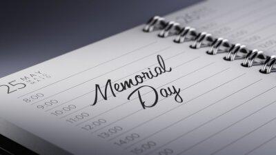 Detailní záběr na osobním kalendáři nastavení důležité datum represe