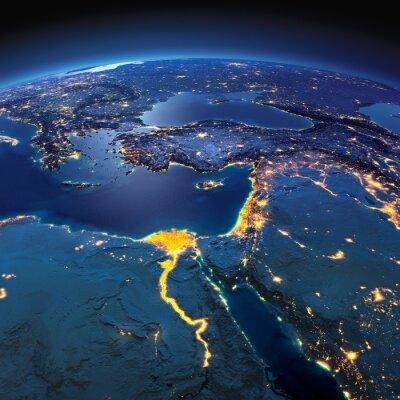 Fototapeta Detailní Země.