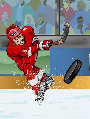 Fototapeta Detroit lední hokejista.