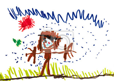 Detska Kresba Chlapec V Desti Fototapeta Fototapety Vesely