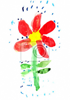 Detska Kresba Flower Fototapeta Fototapety Rucne Malovane Zarive