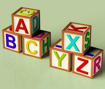 Fototapeta Dětské bloků s ABC a XYX jako symbol pro vzdělávání a learnin