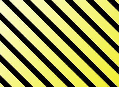 Fototapeta Diagonální Streifen gelb schwarz