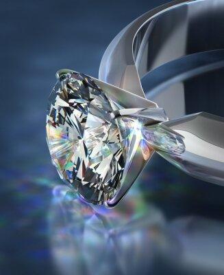 Fototapeta diamantový prsten