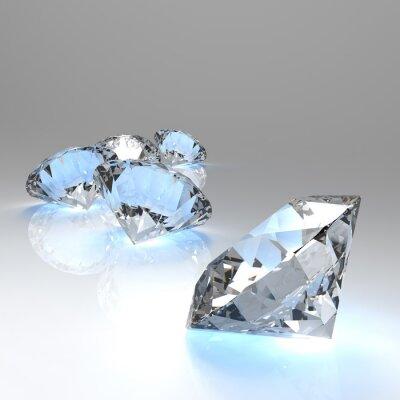 Fototapeta Diamanty 3d složení
