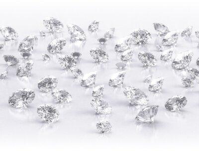 Fototapeta diamanty velká skupina na bílém pozadí