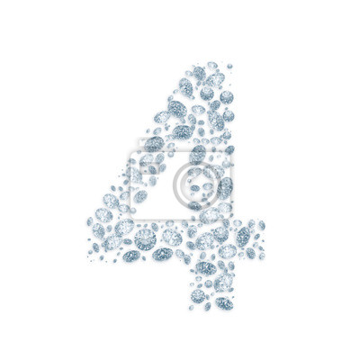Fototapeta Diamond number isolated on white with clipping path