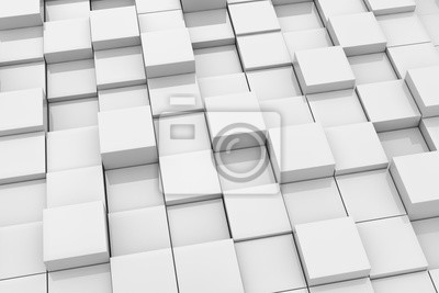 Fototapeta Digitální 3d pozadí z lesklých kostek