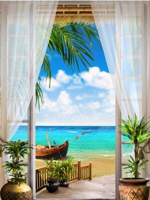 Fototapeta Digitální freska. tropické zobrazení