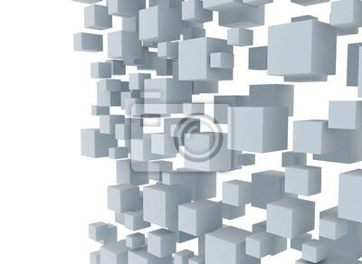 Fototapeta Digitální ilustrace 3d kostky pozadí návrhu