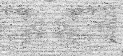 Fototapeta Dlouhá bílá cihlová zeď