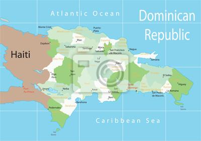 Dominikanska Republika Mapa Fototapeta Fototapety Haiti