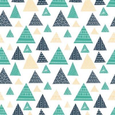 Fototapeta Doodle Triangle bezešvé vzor
