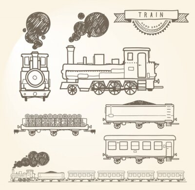 Fototapeta Doodle vlak. EPS8.