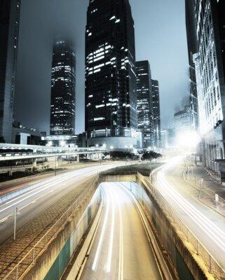 Fototapeta dopravy v Hong Kongu v noci
