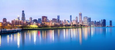 Fototapeta Downtown chicago a Lake Michigan Panorama