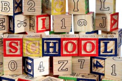 Fototapeta Dřevěné abeceda bloky