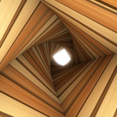 Fototapeta dřevo twisted tunel