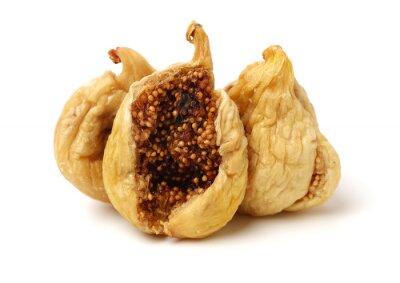 Fototapeta dried fig on white background