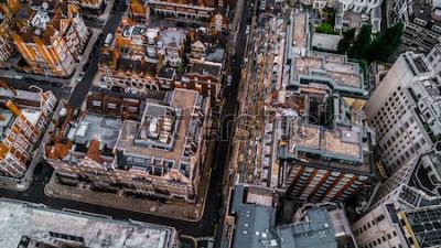 Fototapeta Drone Fotka z London, Mayfair.