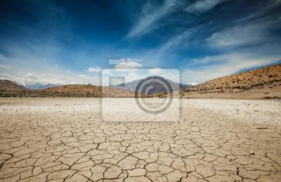 Fototapeta Dry Dhankar lake