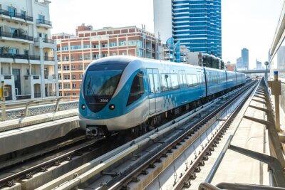 Fototapeta Dubaj metro železniční