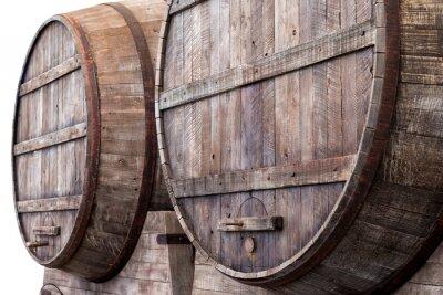Fototapeta Dubových sudech ve vinařství, pivovar a lihovar