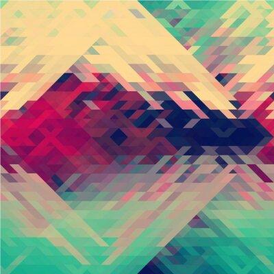Fototapeta Duhových barev trojúhelníkový vektorové vzorek