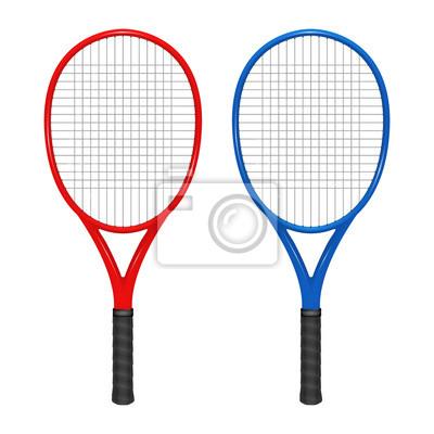 577e5f94e32 Dva tenisové rakety - červená a modrá fototapeta • fototapety ...