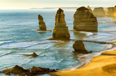 Fototapeta Dvanáct apoštolů při západu slunce podél Great Ocean Road, Victoria -