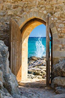 Fototapeta dveře otevřené moře