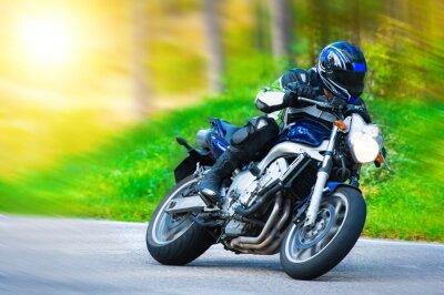 Fototapeta Dynamická motorka závodní