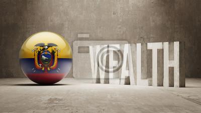Ekvádor. Bohatství Concept.