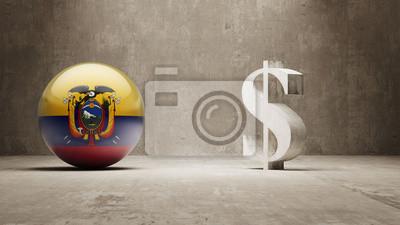 Ekvádor. Peníze Sign koncept.
